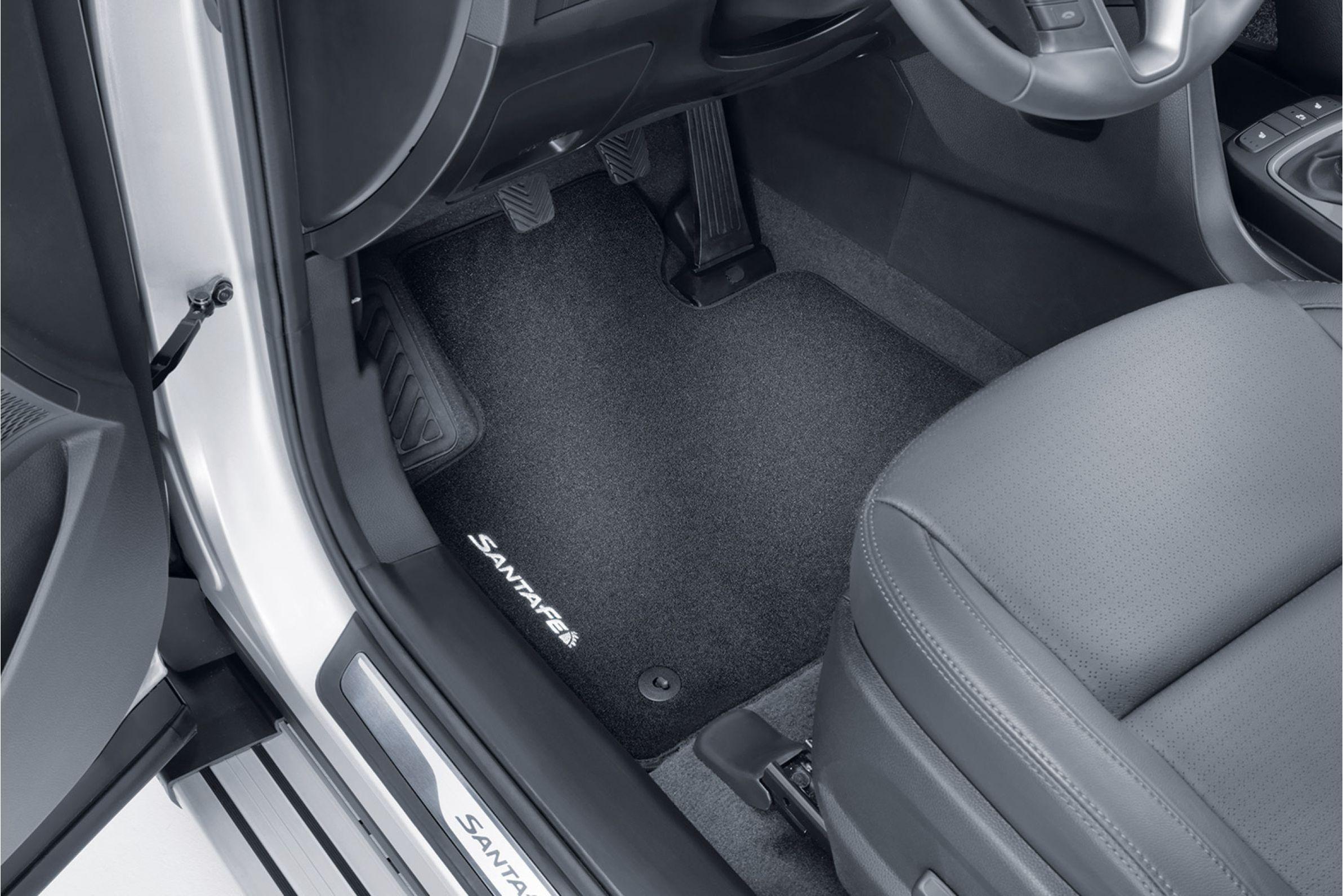 DM 4-teilig Veloursmatten Textilmatten Fußmatten Satz HYUNDAI SANTA FE III